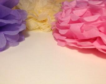 "12 Paper Pom Pom Bridal Shower Decor Tissue Pom Pom Paper Decorations Tissue Paper Flowers Wedding Decoration Paper Pom 8""10""12""14"" Pink"