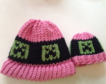 Doll Minecraft Knit Hat (any color)