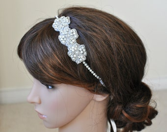 Wedding headpiece, headband, EVELYN, Rhinestone Headband, Wedding Headband, Bridal Headband, Bridal Headpiece, Rhinestone