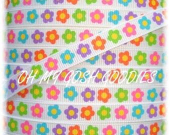 "SUMMER SISTER FLOWERS 3/8"" - 5 Yards - Oh My Gosh Goodies Ribbon"