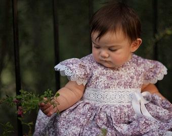 Toddler Lavender Dress, Toddler Couture Dress, Lace, Vintage Design, Cotton Toddler Dress, Party Toddler dress,