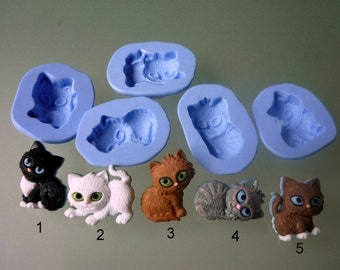 Silicone molds to choose from, kittens theme