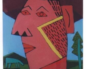 Cowboy abstract face