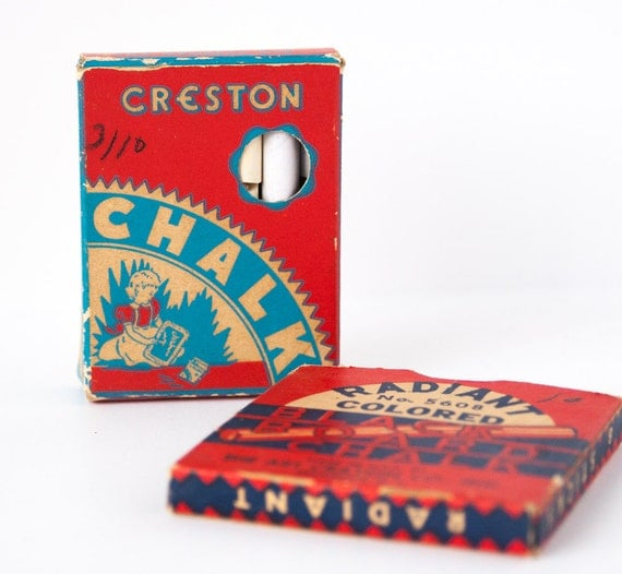 Creston Chalk Memorabilia, Vintage chalk, Collectible retro packaging, Creston Chalk