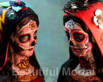 Beautiful Mortal Dia De Los Muertos Mary PRINT 324 Reproduction
