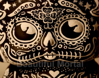 Beautiful Mortal Adorable BW Dia De Los Muertos Deadey Boop PRINT 306 Reproduction