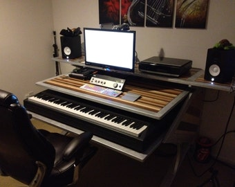 items similar to rustic reclaimed audio video production desk for music film graphic design. Black Bedroom Furniture Sets. Home Design Ideas