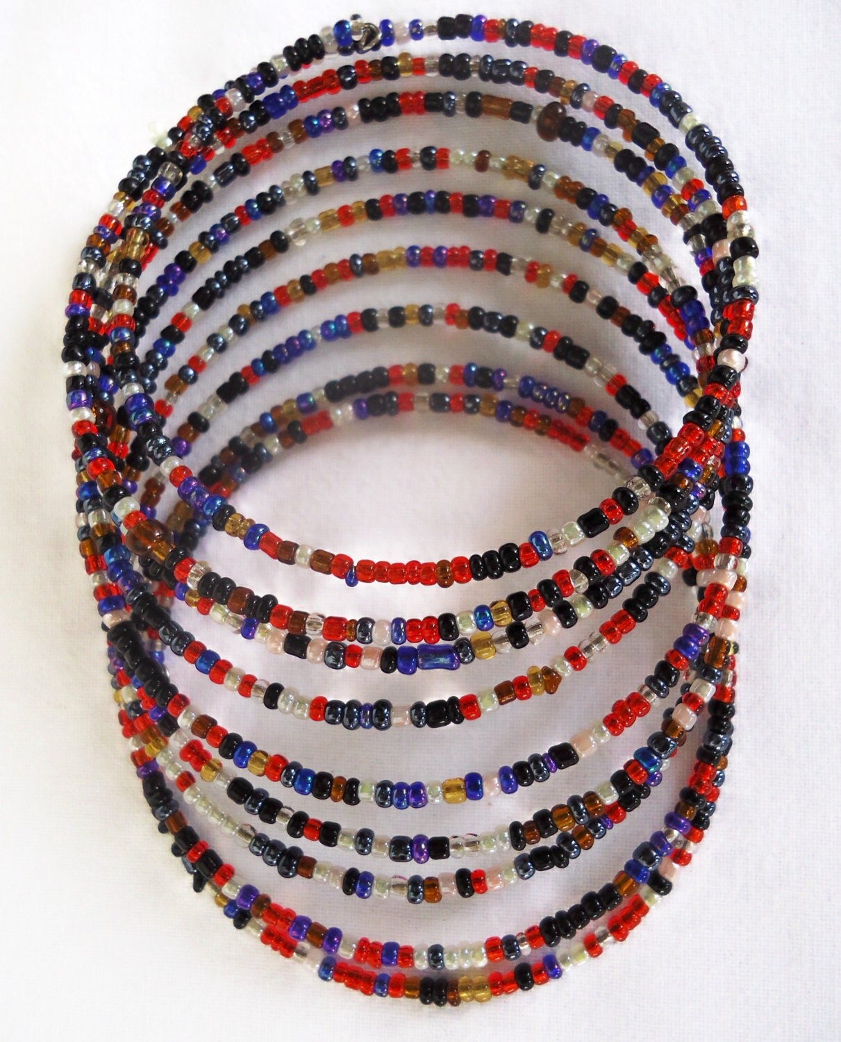maasai beaded bracelet one size by