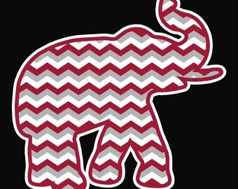 Chevron Elephant Car Decal
