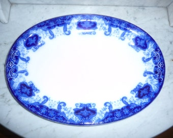 Antique ''Flow Blue'' Service Platter  - J&C Meakin – ''Regal'' – circa 1890