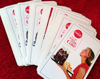 Vinage Coca-Cola playing cards vintage 1963