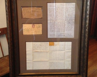 Civil War Letters, Prisoner of War & Shipwreck Content, Signed by Important General, Professionally Framed
