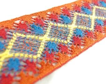 54yds 'Crochet Style' Multi-Colour Lace Trim
