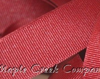 """5 yards Red Grosgrain Ribbon, 4 Widths Available: 1 1/2"""", 7/8"""", 5/8"""", 3/8"""""""