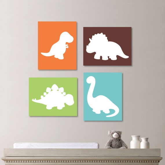 Baby boy nursery art boy nursery decor dinosaur nursery for Boys wall art