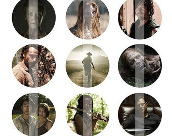 INSTANT DOWNLOAD - The Walking Dead Inspired 4x6 One Inch Digital Bottle Cap Images