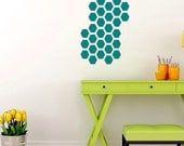 Hexagon Homeycomb Wall Pattern Decal - Home Decor, Wall Covering, Wall Decal