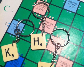 ORIGINAL Scrabble® KEYRING. Made to order. Great gift for a friend who has everything.