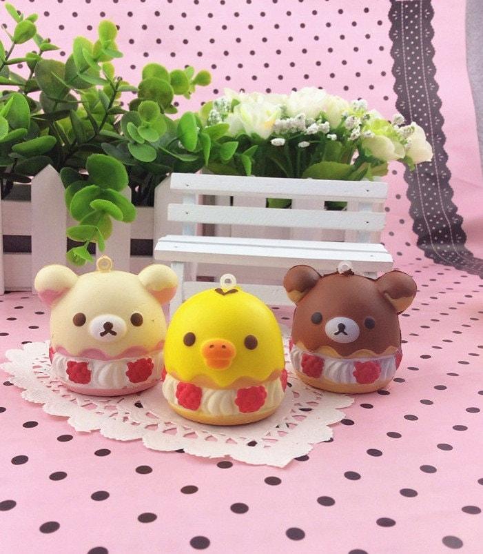 Rare Kawaii Squishy : Kawaii Rilakkuma Squishy Food cake Rare Squishies Cute cell