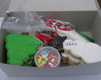 Decorate your own! Christmas Cookie Decorating Kit- 1 dozen