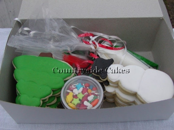 Decorate your own christmas cookie decorating kit 1 dozen for Decorate your own christmas decorations