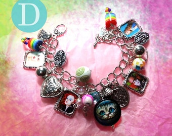 Tim Burton  Alice in Wonderland   charm bracelet