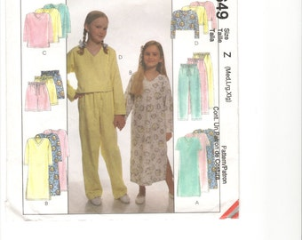 """Pattern: McCall's """"Easy Endless Options"""" children's sleepwear. M-L-XL.  FREE US Shipping!"""