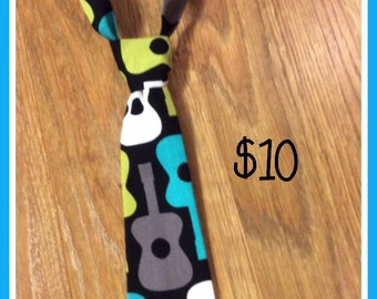 Little Boy Necktie GUITAR  / Handmade Little Boy Neck Tie