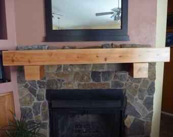 "Floating wall shelf - Fireplace mantel. TV Shelf.60"" Long x 5.5"" Tall x 5.5"" Deep"