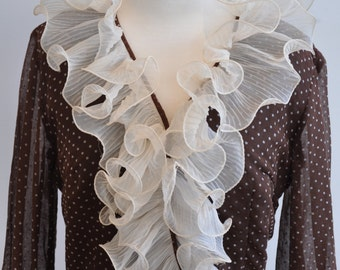 Amazing 60's ruffle fronted dress