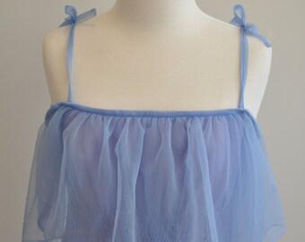 Floaty Floor Length 70's Dress