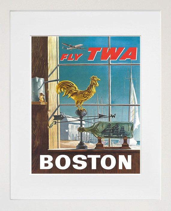 Boston Art Sign Wall Decor Travel Poster Print Xr315