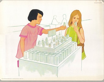 1974 Educational Illustrations - Shopping for Poisons