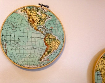 Antique map wall decor