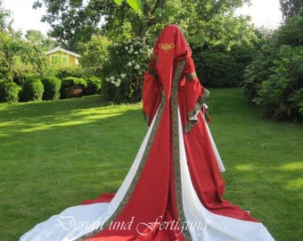 Middle Ages, clothing, customization, fantasy, bridal gown, wedding dress