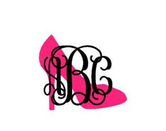 Two color shoe monogram