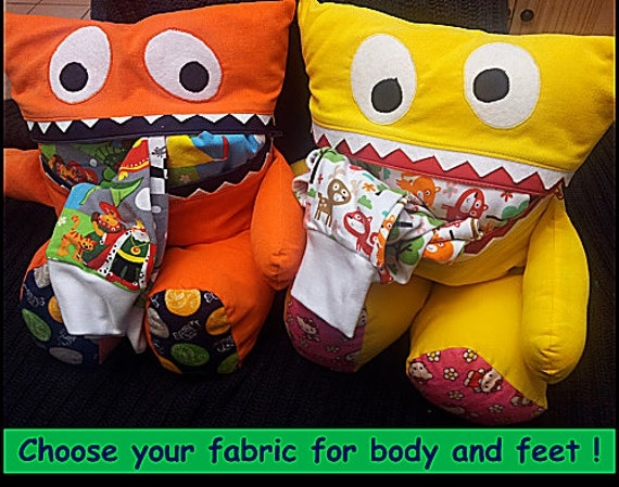 CUSTOM PAJAMA EATER Monster - ***Soft and Cuddly - Adorable - Great Gift - Functional Too!***