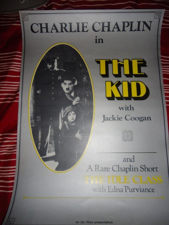 Original 1973 The Kid Charlie Chaplin Movie Poster German
