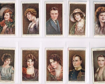 British Cigarette Card Set (25 Cards) - Cinema Stars (2nd Series). Produced in 1928 by Wills Cigarettes. A scarce & very collectable set.
