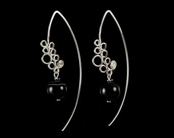 Sterling Silver Earrings with Onyx