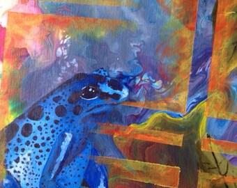 Blue frog