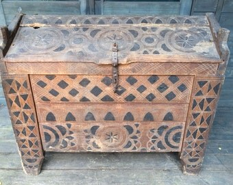 Very Old, Rustic Transylvanian Hope Chest