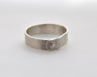 4) 5mm Textured Sterling Silver Rivet Ring