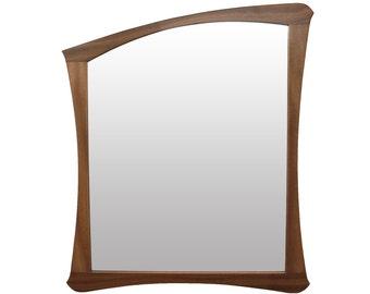 Handmade Art Nouveau Mirror | Solid Sipo Mahogany