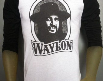 Waylon Jennings t-shirt new vintage style concert tour jersey 1979 made in usa