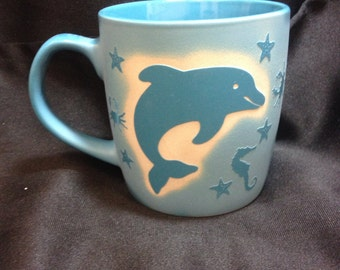 Dolphin Ceramic Coffee Cup