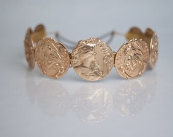 DOLCE: Gold Coin / Medallion Headband.