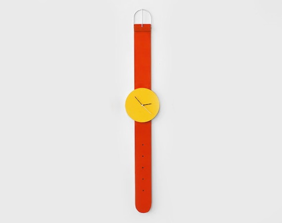 Wall Clock 5ft Yellow Red