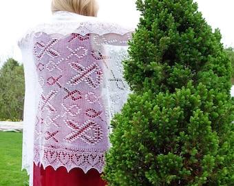 Estonian Lace, Haapsalu Shawl - Hope pattern - incredible soft!