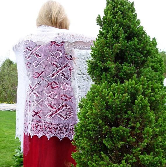 Estonian lace shawl | Etsy
